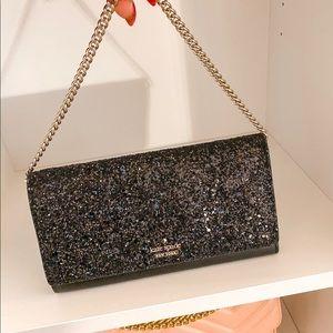 Black Sparkly Kate Spade Wallet Clutch